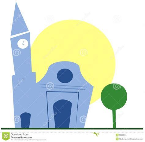 clipart chiesa chiesa stilizzata immagine stock immagine 35598941