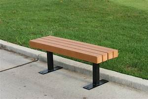 Backless Recycled Plastic Park Bench