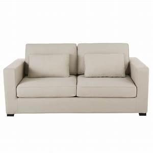 Sofa Aus Paletten Matratze : ausziehbares 2 3 sitzer sofa aus baumwolle graubeige matratze 12 cm milano maisons du monde ~ A.2002-acura-tl-radio.info Haus und Dekorationen