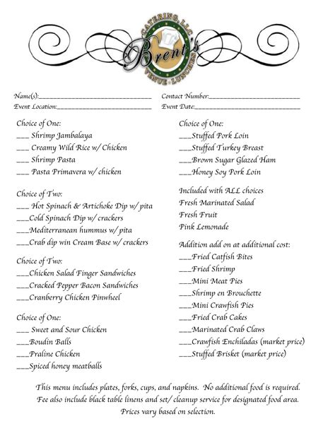 Wake up to great coffee today. Menu/Catering   Brent's Catering