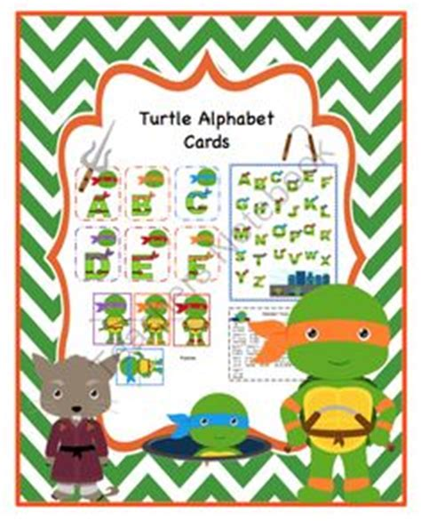 free mutant turtle printable packs tot 594 | cf871f7410b9be0422a12984431e1522 alphabet games preschool alphabet