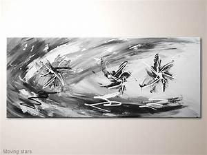 Wandbilder Grau Weiss : modernes designbild in grau wei schwarz moving stars moderne kunst acrylbilder modern ~ Sanjose-hotels-ca.com Haus und Dekorationen