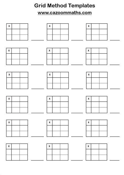 multiplication grid worksheets left handed