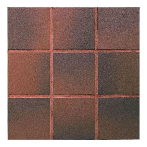 quarry floor tiles daltile quarry red flash 6 in x 6 in ceramic floor and wall tile 11 sq ft case 0t02661p