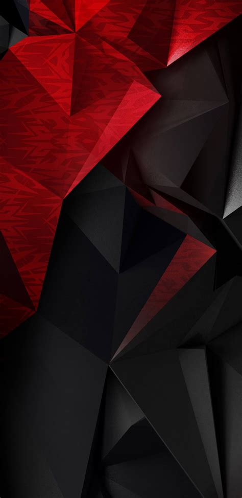Hd wallpapers and background images. Abstract 3D Red and Black Polygons for Samsung Galaxy S9 Wallpaper   Samsung galaxy wallpaper ...