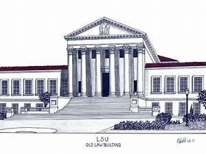 Lsu Old Law Building Drawing by Frederic Kohli