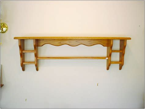 brown wood wall shelves with racks of magnetizing idea of