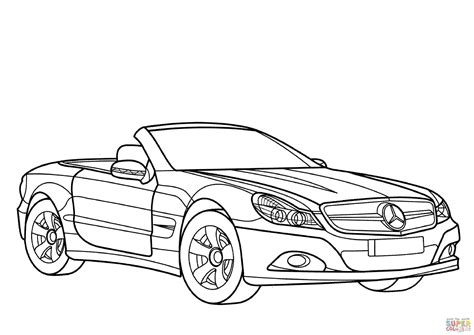 Mercedes-benz Sl-class Coloring Page