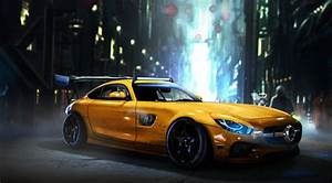 Wallpaper Mercedes-AMG GT S, Artwork, HD, Automotive
