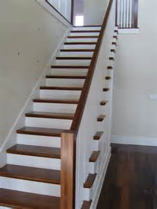 hardwood flooring for stairs hardwood stairs with white risers
