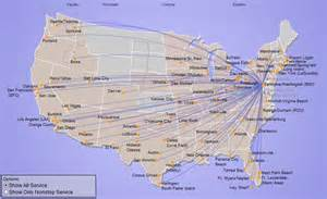 South West Airlines Flight Map