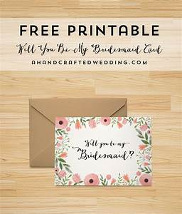 free printable will you be my bridesmaid card free With maid of honor proposal letter