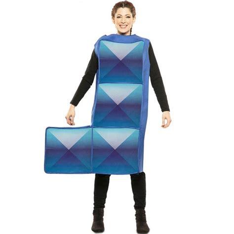 Disfraz Tetris Azul Oscuro para Adulto【Envío en 24h】