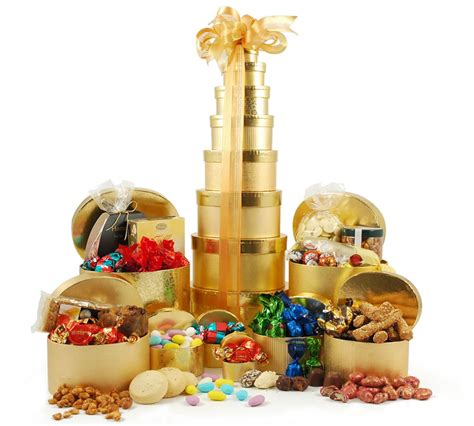 luxury golden gift tower 171 christmas gift hers