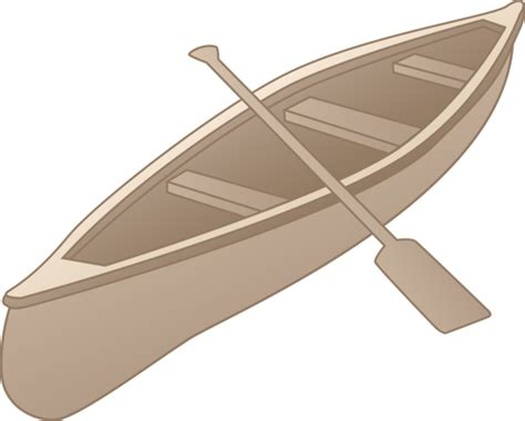 Canoe Boat Clipart by Grey Canoe Clipart Design Free Clip
