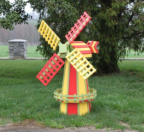 lawn decoration amish poly wood two tone dutch windmill medium amish made yard windmills amish garden
