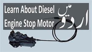 Diesel Engine Stop Motor