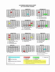 our 2017 18 calendar at a glance With color coded calendar template