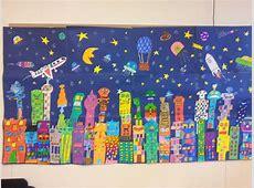 Schülerarbeit Rizzi, Collage, Buntstiftzeichnung