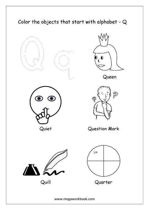 colors starting with k alphabet picture coloring pages things that start with
