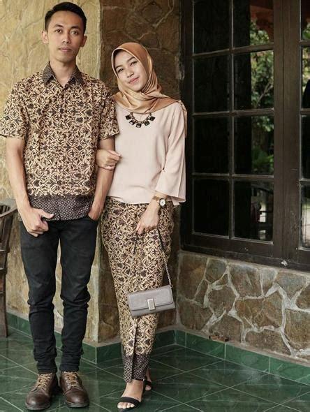 model batik couple modis  model baju muslimah