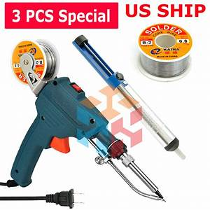 Auto Electric Soldering Iron Gun With Flux 2  Solder Wire
