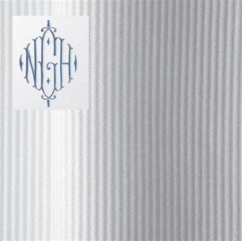 matouk monogrammed shower curtain in horizon fabric