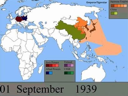 Ww2 War Map Maps Ii Allies Animated