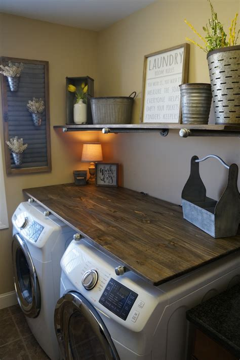 Diy Laundry Room Decor - laundry room makevover for 250 with diy rustic