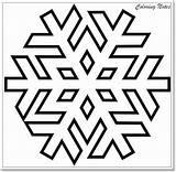 Coloring Snowflake Pages Printable Winter Christmas Snowflakes Simple Easy Preschoolers sketch template