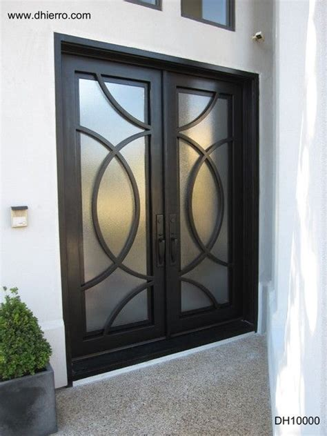contemporary iron doors doors modern stainless steel