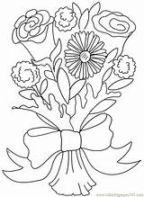 Coloring Bouquet Pages Flower Rose Carnation Clipart Printable Valentine Clip Flowers Roses Doodle Colouring Adults Daisy Others Bouquets Sheets Colour sketch template
