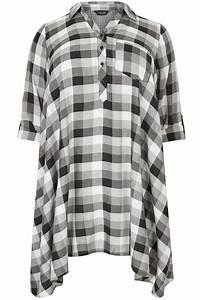 I Watch Kaufen : schwarz graues karohemd mit zipfelsaum gro e gr en 44 64 ~ Eleganceandgraceweddings.com Haus und Dekorationen