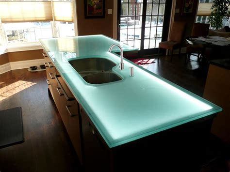 glass kitchen island glass countertop island with led lighting designed by cgd 1231