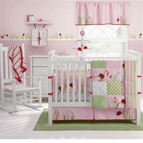 cherry blossom nursery bedding ladybug crib bedding