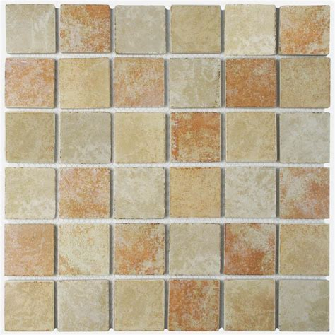 tile stores in colorado merola tile colorado quad adobe 12 1 2 in x 12 1 2 in x 5 mm porcelain mosaic tile fkorcm66