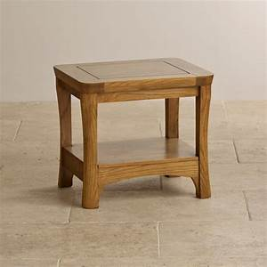 Orrick lamp table in rustic solid oak oak furniture land for Oak lamp table 40cm