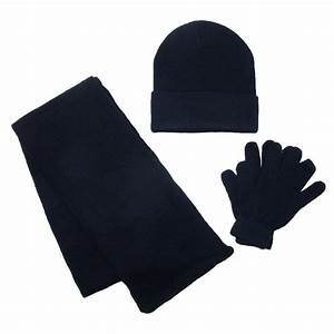 Kids Stretch Hat Gloves And Scarf Winter Set By Ctm