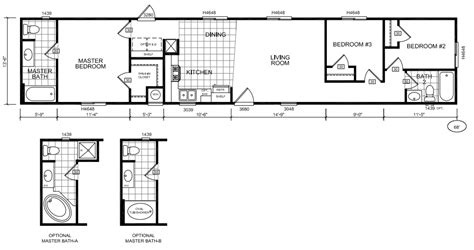 16x80 mobile home floor plans pictures to pin on pinterest