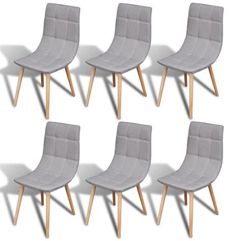 chaises grise la boutique en ligne 6 pcs chaise de salle à manger gris