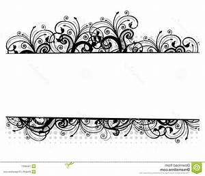 Unique Black And White Floral Border Vector Design