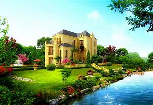 Cool Beautiful House Design HD Wallpaper - DreamLoveWallpapers