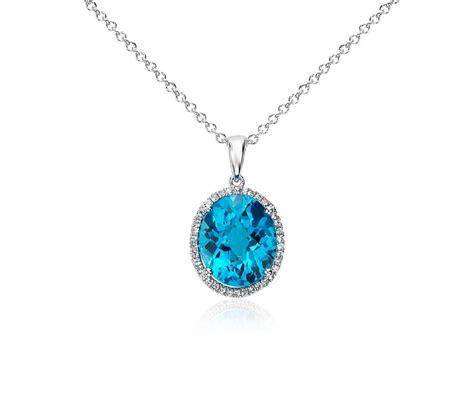 Swiss Blue Topaz And White Sapphire Halo Oval Pendant In. Womens Necklace Sale. White Gold And Diamond Wedding Band. Italian Chains. Motherhood Rings. Latitude Bracelet. Real Tanzanite. Couple Gold Rings. Sydney Engagement Rings