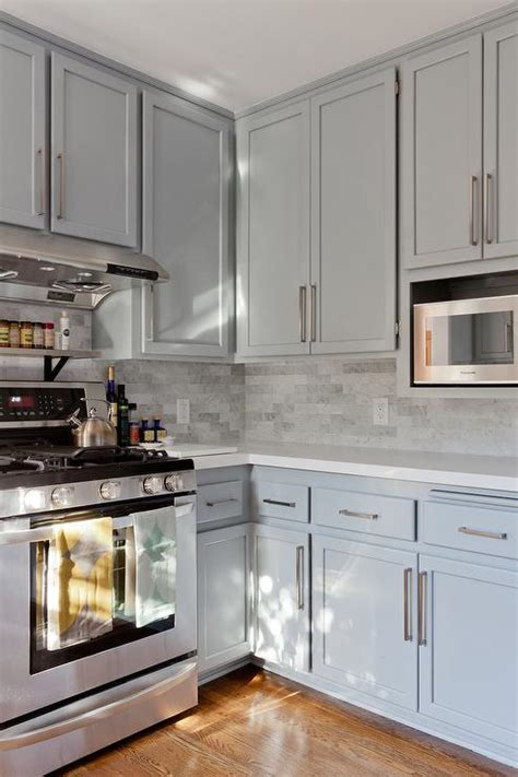 gray kitchen white cabinets gray shaker kitchen cabinets with engineered white quartz