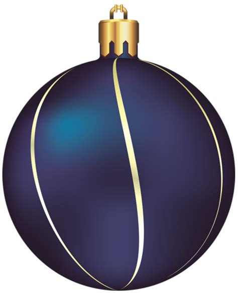 transparent blue and gold christmas ball ornament clipart