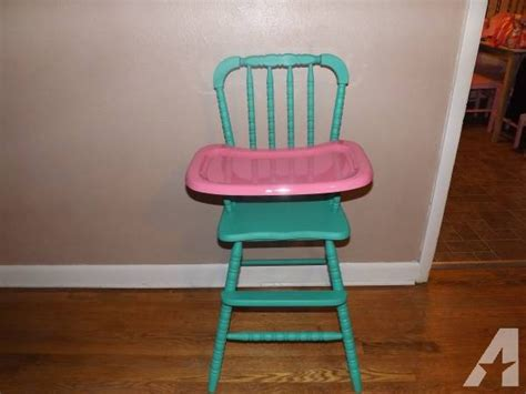 custom painted quot lind quot wooden high chair for sale in