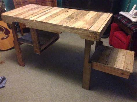 diy wood pallet desk  storage cubby pallet furniture diy