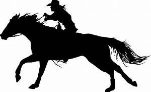 """Rodeo Theme - Barrel Racer Silhouette"" Photographic"