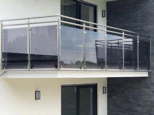 balkongelaender edelstahl vsg glas balkon gelaender ebay