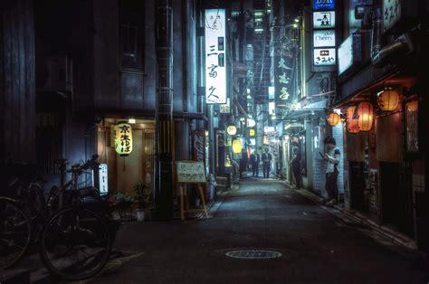 japanese alleyway  wallpaper